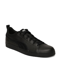 purchase cheap 446cb 13a06 Buy Puma Men Black Leather Court Star Sneakers - Casual ...
