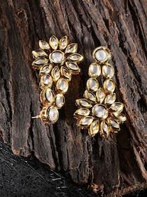 12268ebfcb39b Buy Melani Borsa White 18k Gold Plated Handcrafted Kundan Stone ...