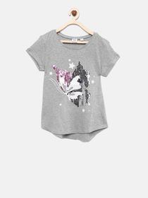 31b915bdabe Buy GAP Girls Pink Printed Flippy Sequin Graphic T Shirt - Tshirts ...