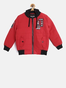 ac8cdc4e8 Buy Okane Boys Mustard Yellow Hooded Bomber Jacket - Jackets for ...