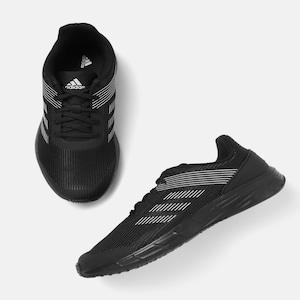 ADIDAS Men Black Woven Design Orion Running Shoes