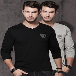 Roadster Men Pack of 2 V-Neck T-shirts