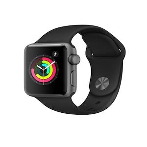 Apple Unisex Black Series 3 GPS Smart Watch MTF02HN