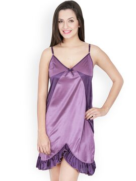 f94c9b1df9f Secret wish bd-113 Purple Nightdress Bd 113 - Best Price in India ...