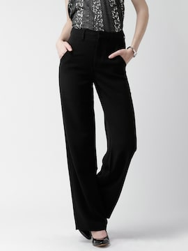 Forever 21 164572 Black Black Casual Trousers Best Price In India