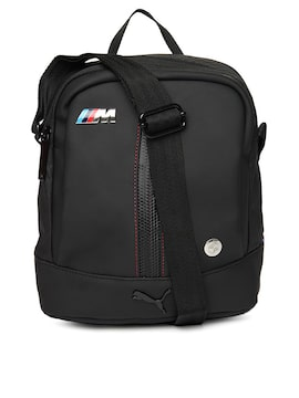 bc4a99a0bcdb Puma 7316701 Unisex Black Bmw M Collection Portable Messenger Bag ...
