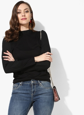 Black Solid Blouse