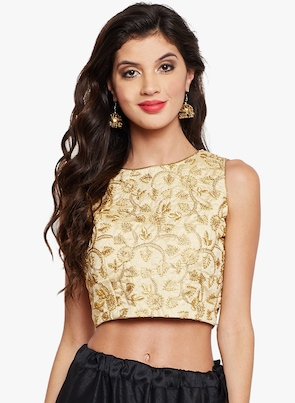 Gold Self Design Regular Top