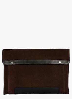 Brown/Black Canvas Laptop Sleeve