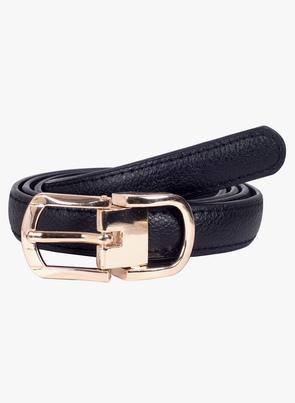 Black Faux Leather Belt