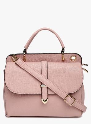 Pink Polyurethane (Pu) Handbag