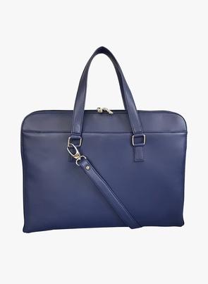 Blue Pu Laptop Bag