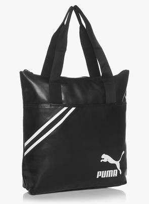 Archive Black Shopping Bag