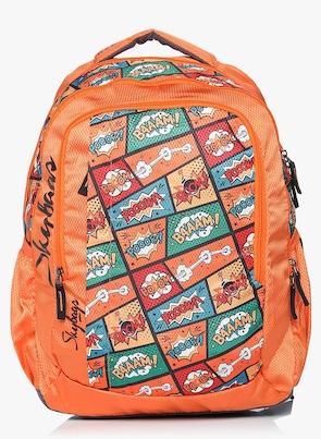 Skybags Orange School Backpack Backpacks