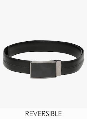 Black/Black Leather Belt