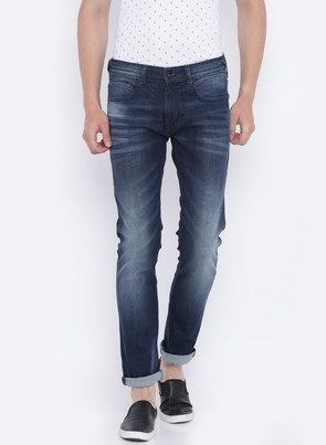 Blue Vapour Slim Fit Low-Rise Clean Look Stretchable Jeans