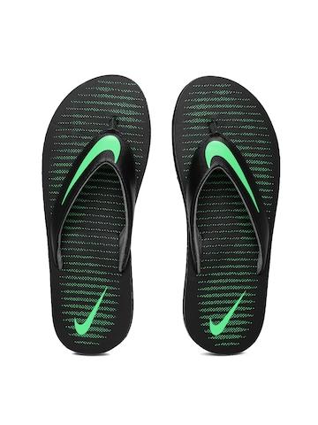nike slippers green