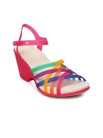 2efac8368982 Buy Crocs Women Multicoloured Huarache Wedges on Myntra