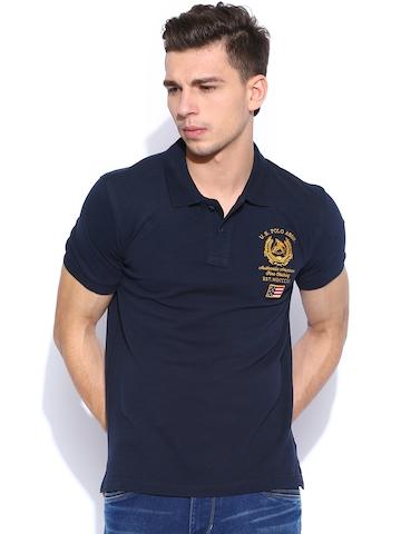 24baf7ea 20% OFF on U.S. Polo Assn. Navy Polo T-shirt on Myntra | PaisaWapas.com