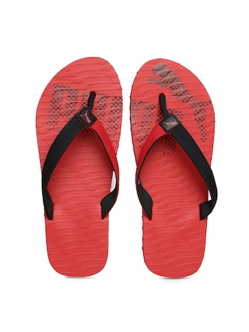 1ce038f87960 50% OFF on PUMA Unisex Red   Black Miami Fashion DP Flip-Flops on Myntra