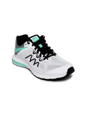 e8a03af2 Buy Nike Women White & Black Zoom Winflo 3 Running Shoes on Myntra |  PaisaWapas.com