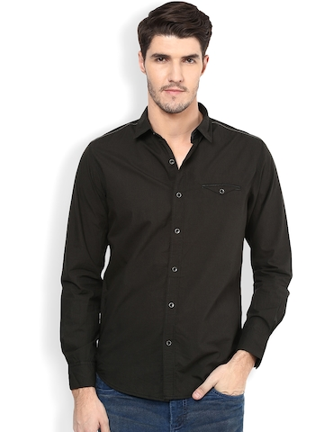 eac67acc 50% OFF on Mufti Brown Slim Fit Casual Shirt on Myntra | PaisaWapas.com