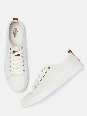 Buy Roadster Men White Solid Sneakers