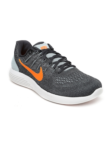 dbb1dc6072dc7 Buy Nike Men Charcoal Grey Lunarglide 8 Running Shoes on Myntra ...