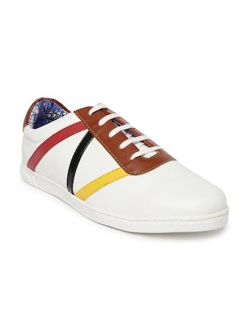 Core Men White Striped Sneakers