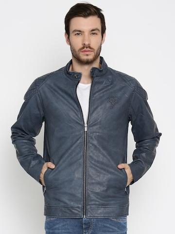 5c442b2ad3 60% OFF on Pepe Jeans Blue Biker Jacket on Myntra