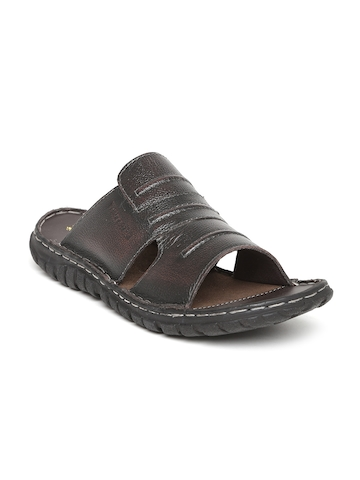2268bc54fe78 70% OFF on Red Tape Men Coffee Brown Leather Sandals on Myntra ...