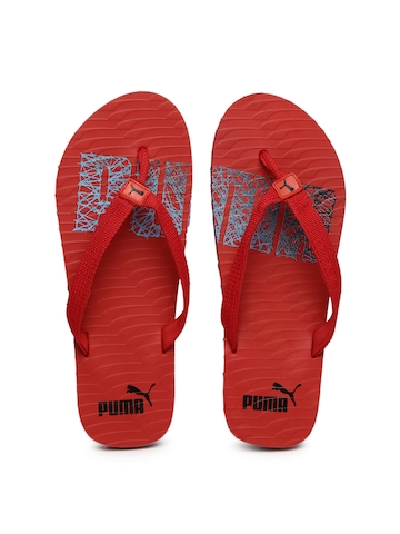a4ea3fc41784 Buy Puma Unisex Red Miami NG DP Printed Flip-Flops on Myntra ...