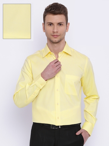 2c2cfb76c3b 70% OFF on Raymond Men Yellow Contemporary Regular Fit Formal Shirt on  Myntra