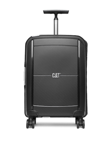 5b401fe626 55% OFF on CAT Unisex Black Cloud Spinner Small Trolley Suitcase on Myntra  | PaisaWapas.com