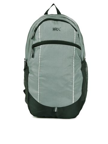 719737fa00 HRX by Hrithik Roshan Unisex Grey & Black Shell Colourblocked Backpack
