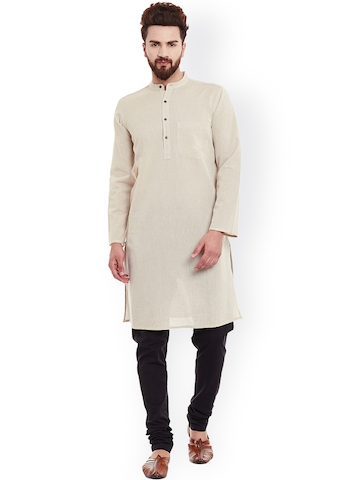 35236a44e37 20% OFF on even Men Beige Solid Straight Kurta on Myntra | PaisaWapas.com