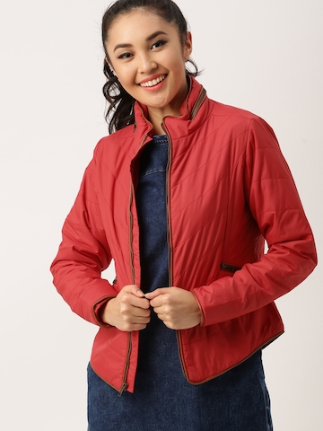 4559630beab DressBerry Women Red Solid Puffer Jacket