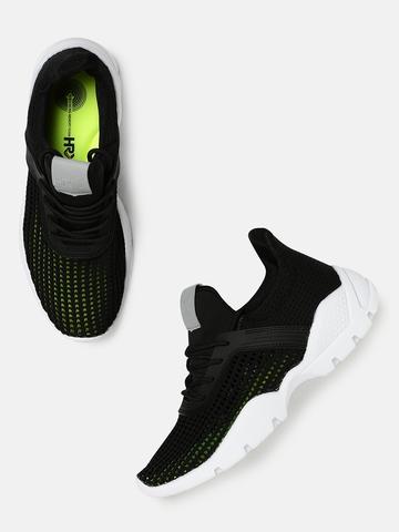 7b663a657a1 40% OFF on HRX by Hrithik Roshan Women Black Running Shoes on Myntra ...