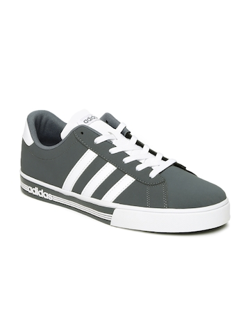 b28291a2608 Buy Adidas NEO Men Grey DAILY TEAM Sneakers on Myntra