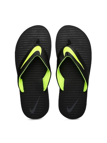 20e35f02b77 Buy Nike Men Black CHROMA THONG 5 Printed Flip-Flops on Myntra ...