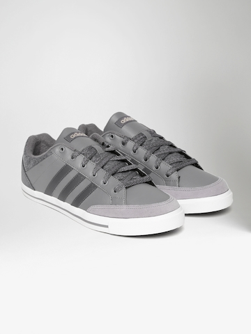best cheap c2661 96ac3 40% OFF on Adidas NEO Men Grey CACITY Leather Sneakers on Myntra    PaisaWapas.com