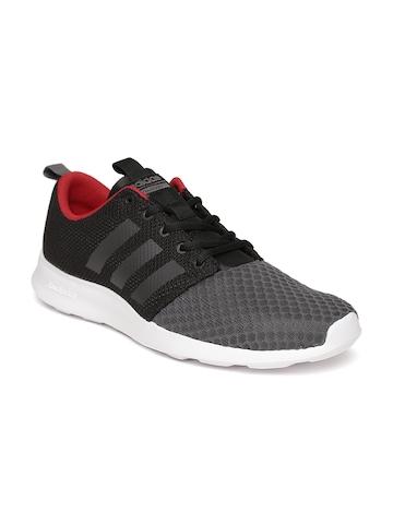 6be7296689749f 40% OFF on Adidas NEO Men Black   Grey CF Swift Racer Sneakers on Myntra