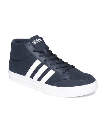 45% OFF on Adidas NEO Men Navy VS SET Solid Mid-Top Sneakers on Myntra  6d72c1d38f17