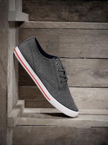 Roadster Men Charcoal Grey Sneakers