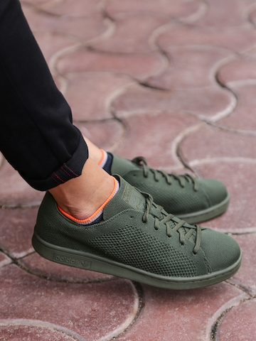 buy online 301a0 56f97 Adidas Originals Men Olive Green Stan Smith PK Sneakers