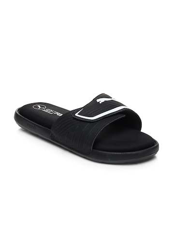 6ebfe97f199b5 Buy Puma Unisex Black Starcat Sfoam Flip-Flops on Myntra ...