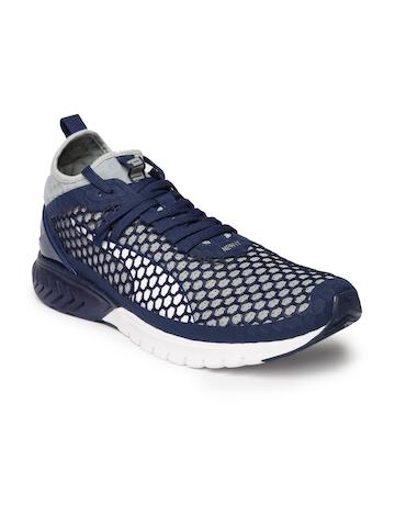 official photos 9ccf8 8d378 55% OFF on Puma Men Navy Blue & Grey IGNITE Dual NETFIT Running Shoes on  Myntra | PaisaWapas.com