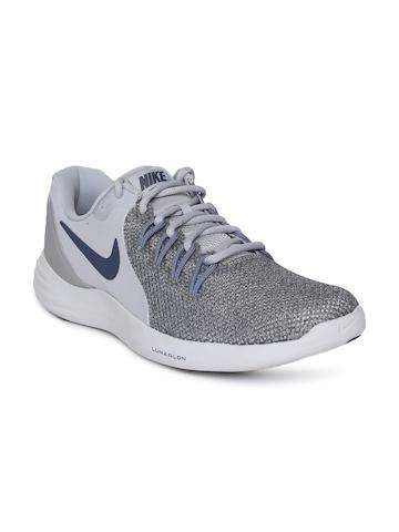 5895efd2617d3 30% OFF on Nike Men Grey Nike Lunar Apparent Running Shoes on Myntra ...
