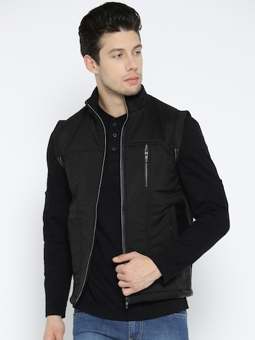 da728cdb8 Fort Collins Men Black Sleeveless Tailored Jacket