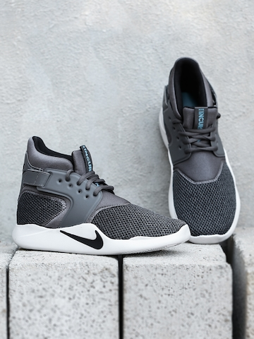 sports shoes 89e45 65728 35% OFF on Nike Men Charcoal Solid Textile NIKE INCURSION MID SE Mid-Top  Sneakers on Myntra   PaisaWapas.com